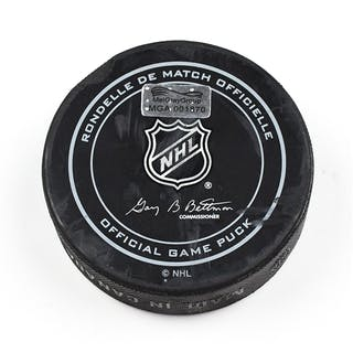 Columbus Blue Jackets Game-Used Puck November 17, 2015 vs. St. Louis