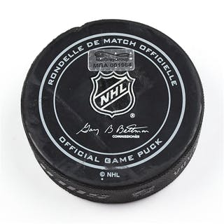 Columbus Blue Jackets Game-Used Puck November 20, 2015 vs. Nashville
