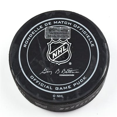 Columbus Blue Jackets Game-Used Puck November 22, 2015 vs. San Jose