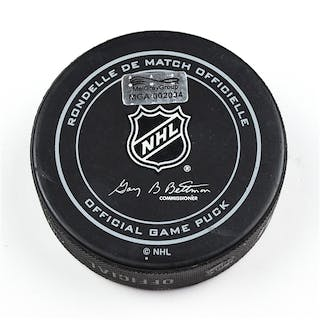 Columbus Blue Jackets Game-Used Puck December 12, 2015 vs. New York