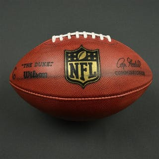 Game-Used Football Game-Used Football from December 19, 2016 vs. Carolina