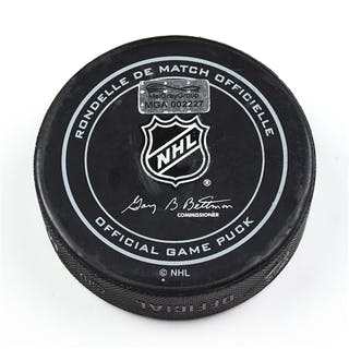 Columbus Blue Jackets Game-Used Puck December 29, 2015 vs. Dallas