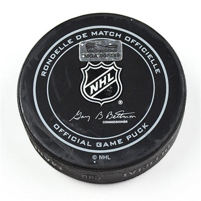Columbus Blue Jackets Game-Used Puck January 16, 2016 vs. Colorado