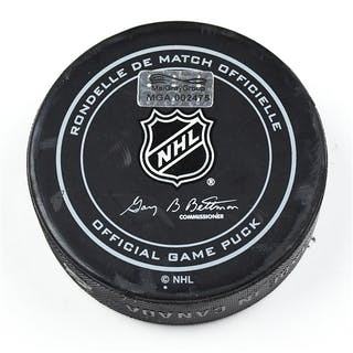 Columbus Blue Jackets Game-Used Puck January 25, 2016 vs. Montreal