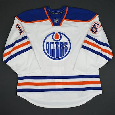 Purcell, Teddy White Set 3 - Game-Issued (GI) Edmonton Oilers 2015-16