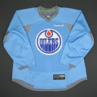 Reebok Light Blue Practice Jersey Edmonton Oilers 2015-16 #NA Size: 56