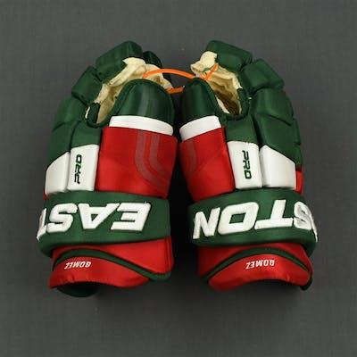 Gomez, Scott Easton Pro Gloves (Retro Colors) New Jersey Devils 2014-15