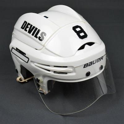 Zubrus, Danius White, Bauer Helmet w/ Bauer Shield New Jersey Devils 2012-15