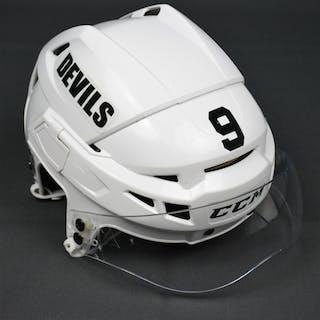 Havlat, Martin White, CCM Helmet w/ Shield New Jersey Devils 2014-15