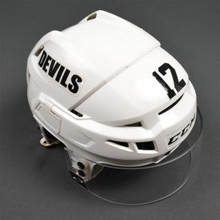 Sestito, Tim White, CCM Helmet w/ Oakley Shield New Jersey Devils 2014-15
