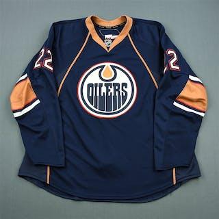 Jacques, Jean-Francois Navy Set 2 Edmonton Oilers 2010-11 #22 Size: 58+
