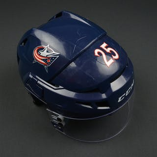 Karlsson, William Blue, CCM Helmet w/ Oakley Shield Columbus Blue