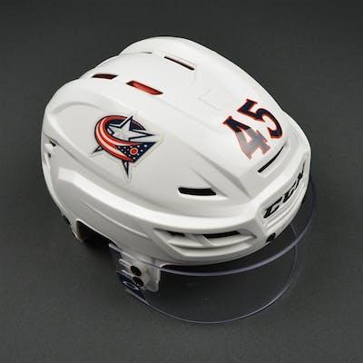 Sedlak, Lukas White, CCM Helmet w/ Oakley Shield & NHL Centennial
