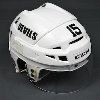 Ruutu, Tuomo White, CCM Helmet w/ Oakley Shield New Jersey Devils 2013-14