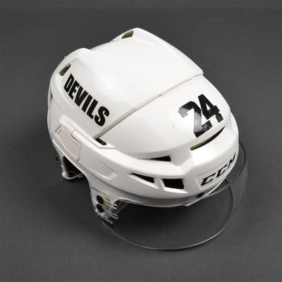 Salvador, Bryce White, CCM Helmet w/ Bauer Shield New Jersey Devils 2013-14