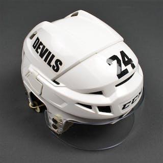 Salvador, Bryce White, CCM Helmet w/ Bauer Shield New Jersey Devils 2012-14