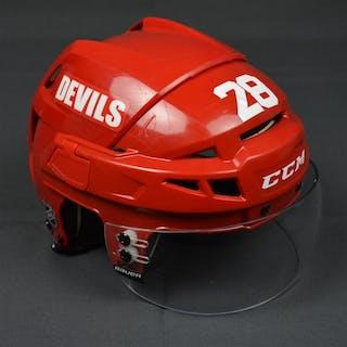 Volchenkov, Anton Red, CCM Helmet w/ Bauer Shield New Jersey Devils 2013-14