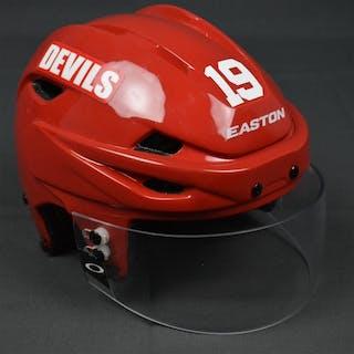 Zajac, Travis Red, Easton Helmet w/ Oakley Shield New Jersey Devils 2014-15