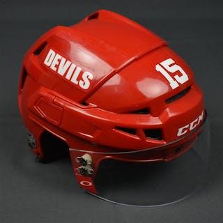 Ruutu, Tuomo Red, CCM Helmet w/ Oakley Shield New Jersey Devils 2013-14