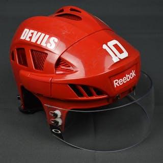 Harrold, Peter Red, Reebok Helmet w/ Oakley Shield New Jersey Devils 2014-15