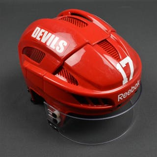 Ryder, Michael Red, Reebok Helmet w/ Oakley Shield New Jersey Devils 2013-14
