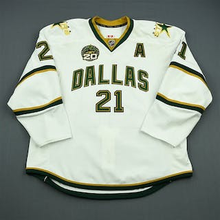 Eriksson, Loui White Set 1 w/A w/ 20th Anniversary Patch Dallas Stars