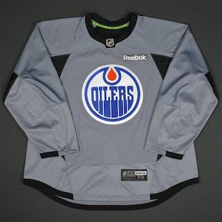 Reebok Gray Practice Jersey Edmonton Oilers 2015-16 #NA Size: 58