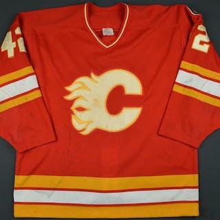 Makarov, Sergei * Red - Flames 10 yr patch Calgary Flames 1989-90 #42