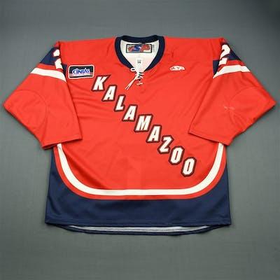 Landry, Jon A. Red Set 1 Kalamazoo Wings 2010-11 #2 Size: 56