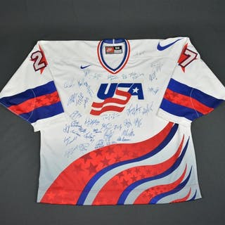 Roenick, Jeremy * White, World Cup of Hockey, Team-Signed with 38