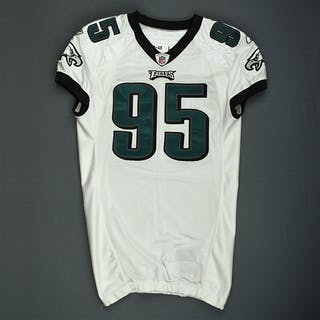 Abiamiri, Victor White Philadelphia Eagles 2009 #95 Size: 48 LINE