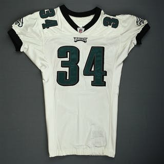 Buckley, Eldra White Philadelphia Eagles 2009 #34 Size: 46 SKILL