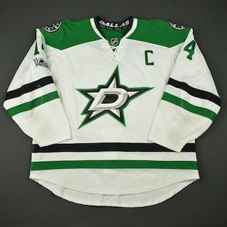 Benn, Jamie White Set 3 w/C, w/ NHL Centennial Patch Dallas Stars