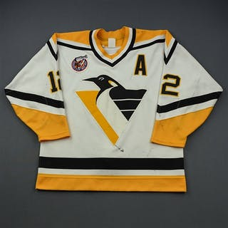 Errey, Bob * White w/ A - 100th Anniversary Stanley Cup Patch Pittsburgh