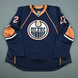 Jacques, Jean-Francois Navy Set 1 Edmonton Oilers 2010-11 #22 Size: 58+