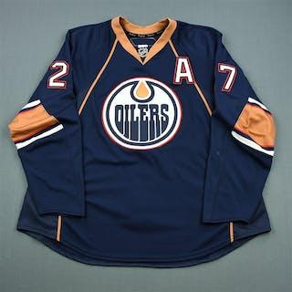 Penner, Dustin Navy Set 1 w/A Edmonton Oilers 2010-11 #27 Size: 58+