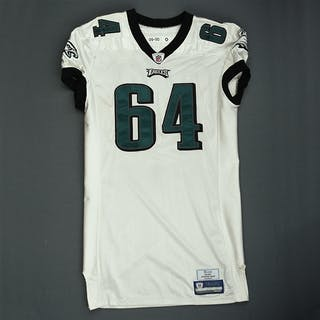 Dixon, Antonio White Philadelphia Eagles 2009 #64 Size: 50-O