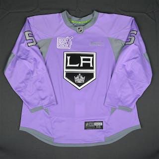 McBain, Jamie Purple, Hockey Fights Cancer Warm-up, October 23, 2015
