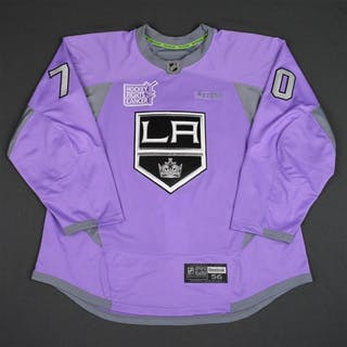 Pearson, Tanner Purple, Hockey Fights Cancer Warm-up, October 23