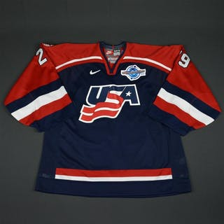 DiPietro, Rick * Blue, World Cup of Hockey, Game-Issued, Autographed