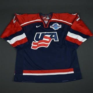 Halpern, Jeff * Blue, World Cup of Hockey, Pre-Tournament Worn, Autographed