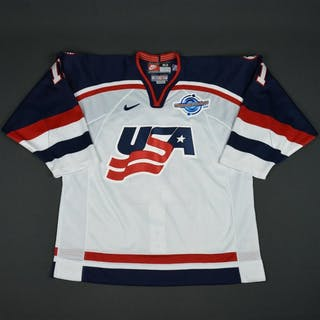 Amonte, Tony * White, World Cup of Hockey, Pre-Tournament Worn, Autographed