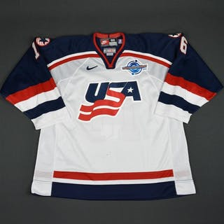 Hull, Brett * White, World Cup of Hockey, Pre-Tournament Worn, Autographed