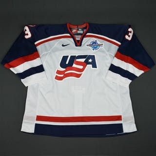 Miller, Aaron * White, World Cup of Hockey, Pre-Tournament Worn, Autographed