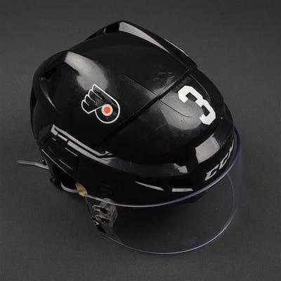 Gudas, Radko Black CCM V08 Helmet Philadelphia Flyers 2015-16 #3 Size: Small