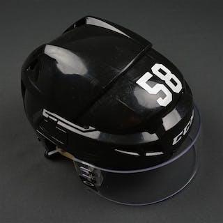 Leier, Taylor Black CCM V08 Helmet Philadelphia Flyers 2015-16 #58 Size: Small
