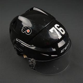 VandeVelde, Chris Black CCM V08 Helmet Philadelphia Flyers 2015-16