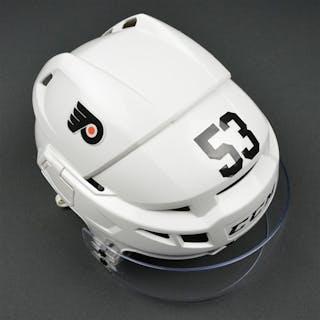 Gostisbehere, Shayne White CCM V08 Helmet Philadelphia Flyers 2016-17