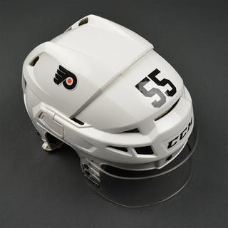 Schultz, Nick White CCM V08 Helmet Philadelphia Flyers 2016-17 #55 Size: Medium