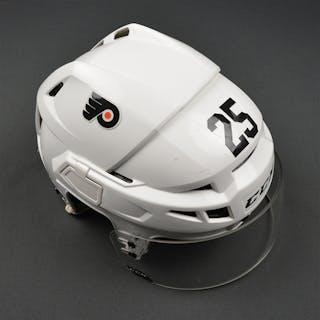 Cousins, Nick White CCM V10 Helmet Philadelphia Flyers 2016-17 #25 Size: Small